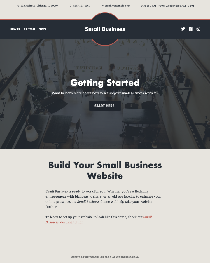 Small Business Theme Setup Instructions