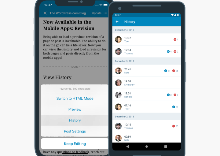 Now Available in the Mobile Apps: Revision History