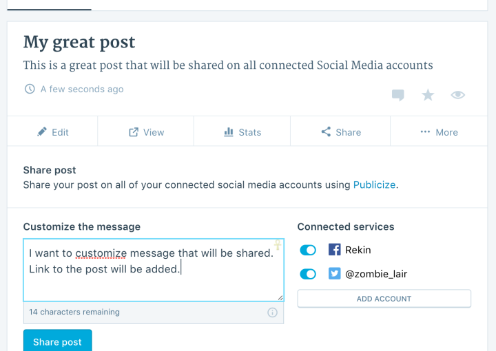 Share It Again: New Social Media Features for Premium and Business Users