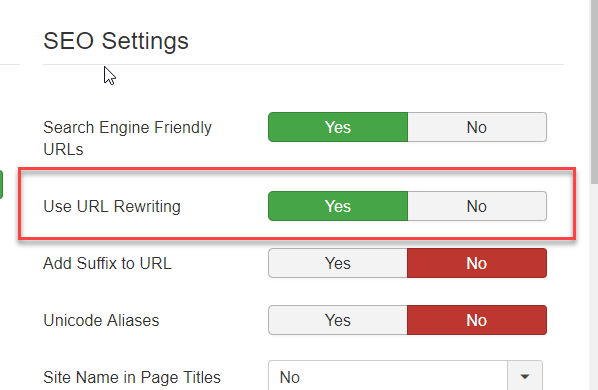 Remove Index.php from Joomla URL