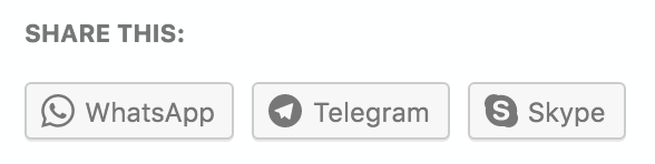 New on WordPress.com: Sharing Buttons for WhatsApp, Telegram, and Skype