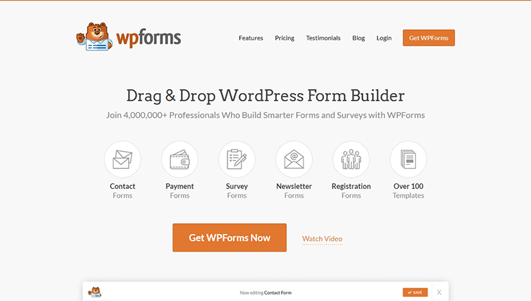 WPForms website