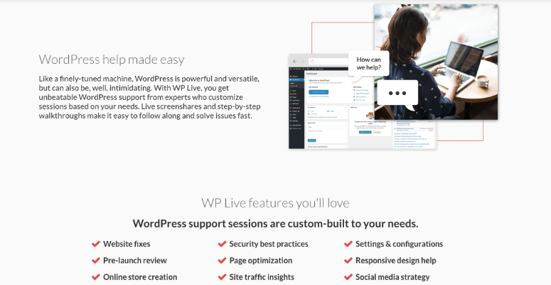 WP Live features