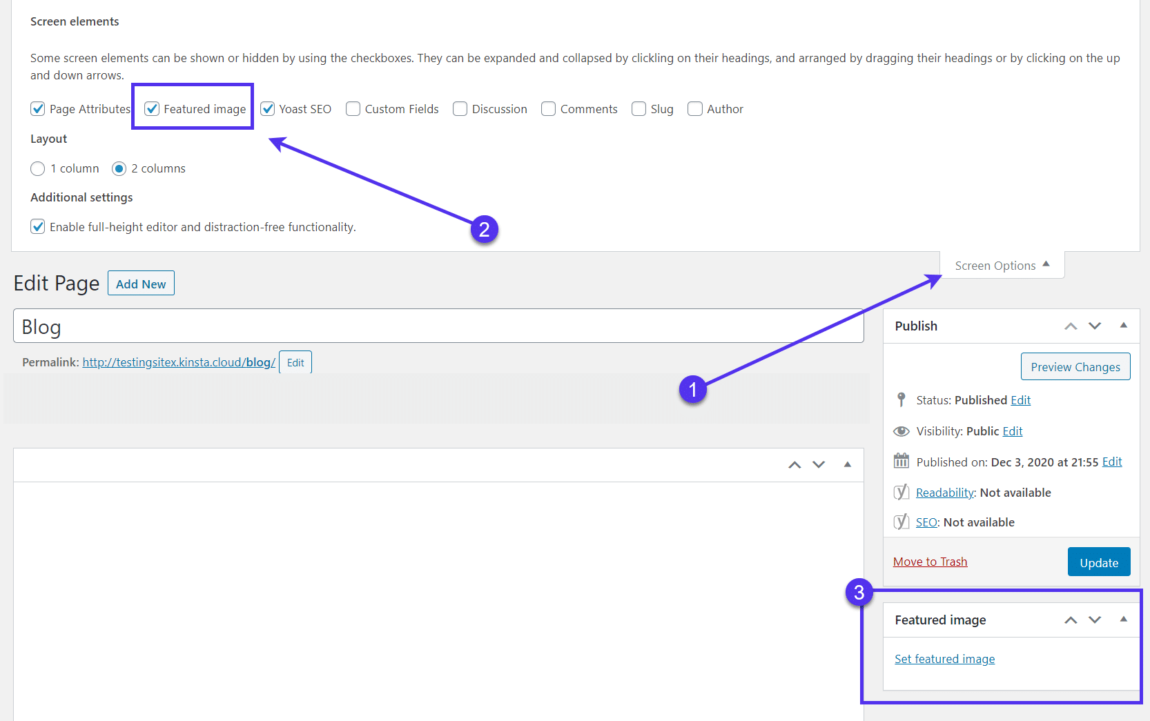 WordPress featured image not showing
