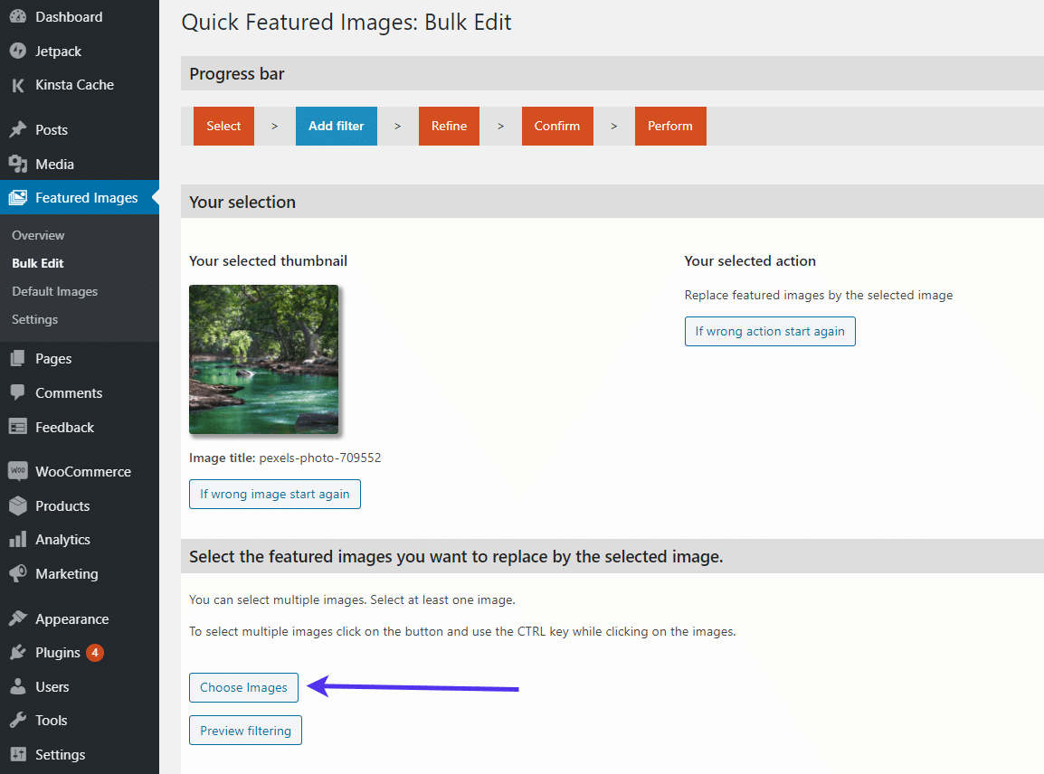 Click the 'Choose Images' button