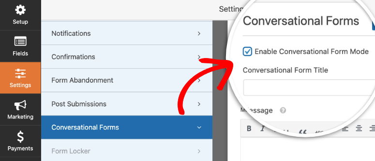 conversational forms in wpforms
