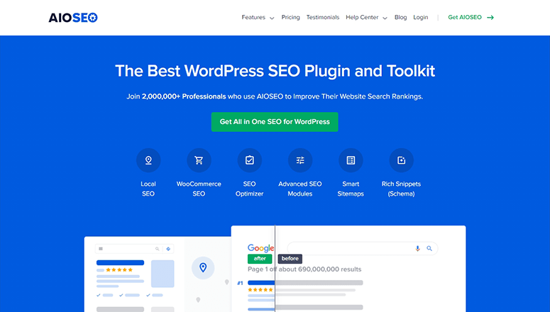 All in One SEO website