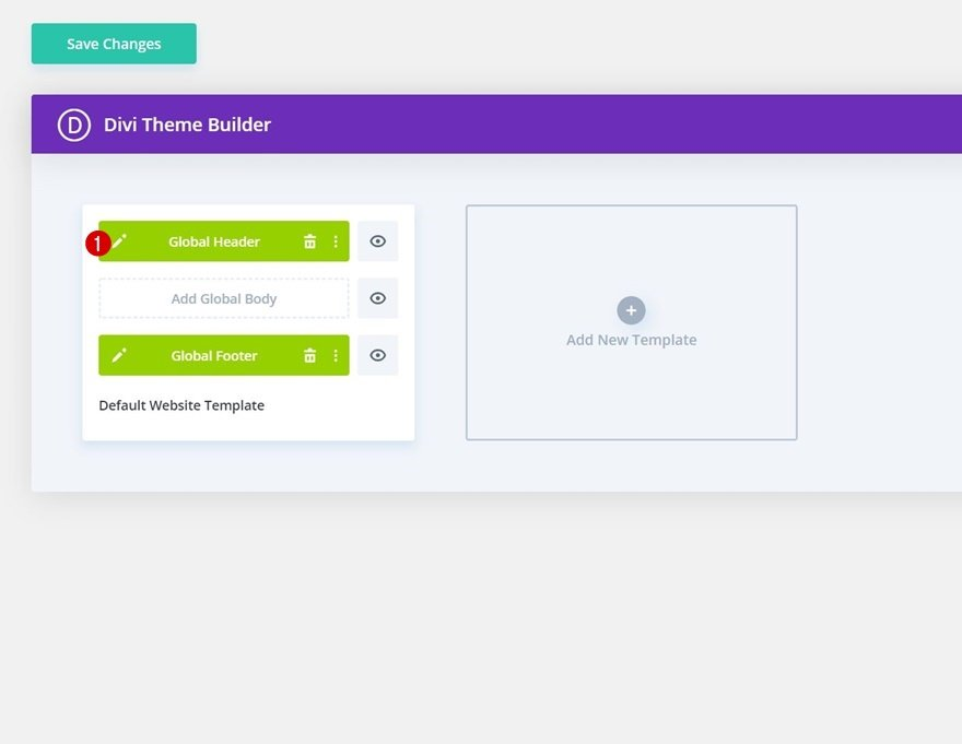header & footer template for Divi's Marina Layout Pack